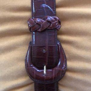 Brighton croc leather belt 29-33